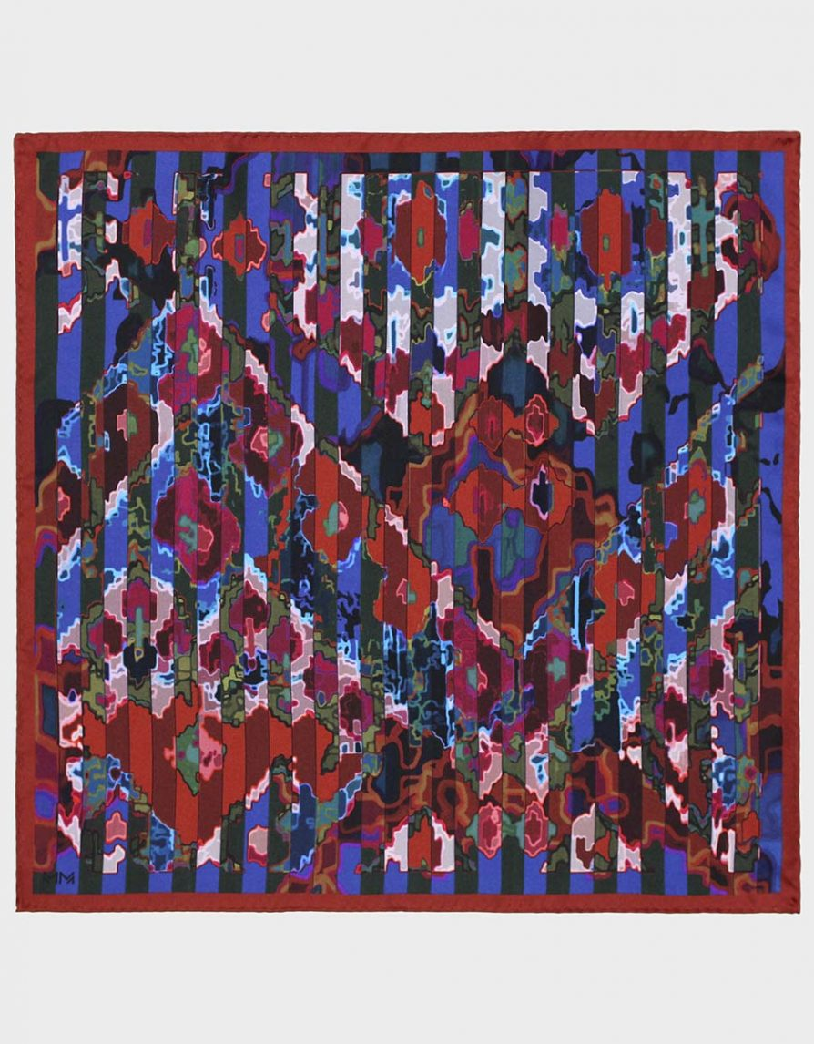 Carpet Stripes Silk Twill Pocket Square