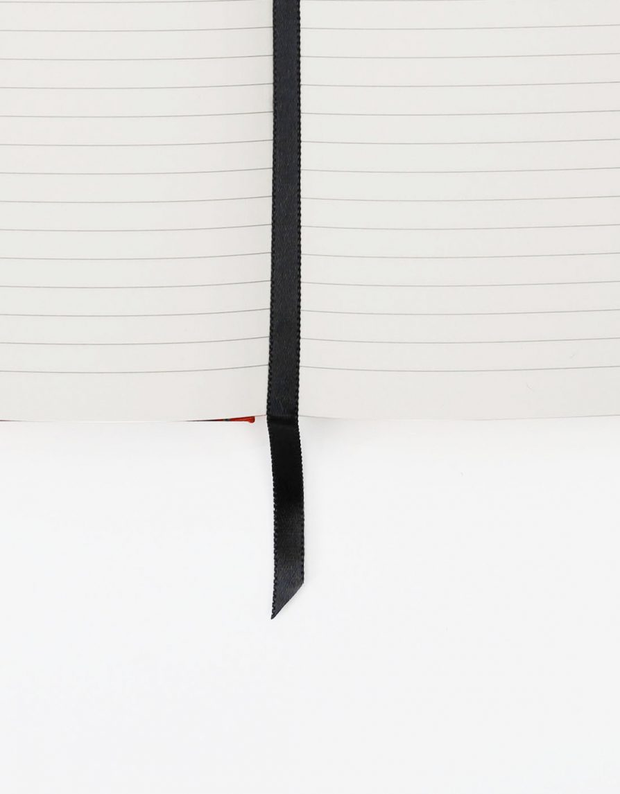 Fabric Hardcover Notebook | Ruled Pages | Silk Koi Print