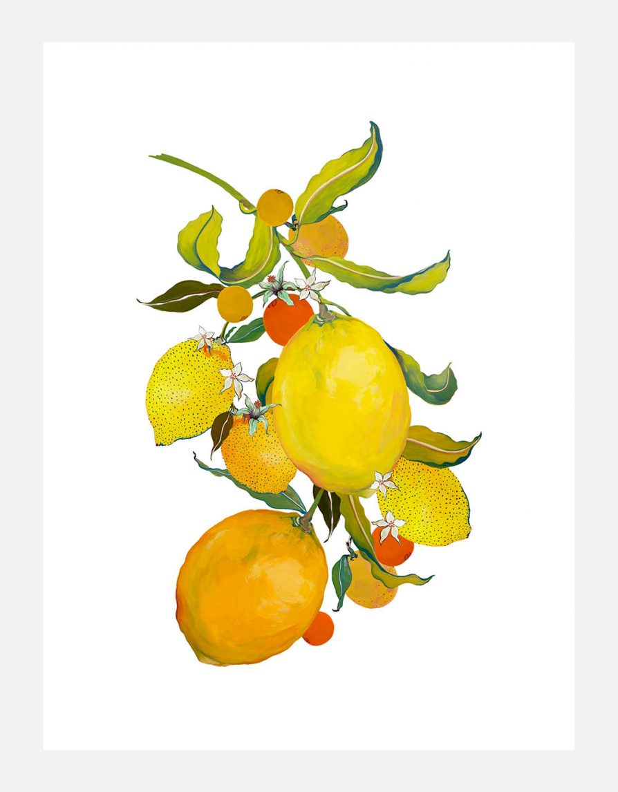 Reproduced art print Giclée with original Lemons painting | Online Exclusive