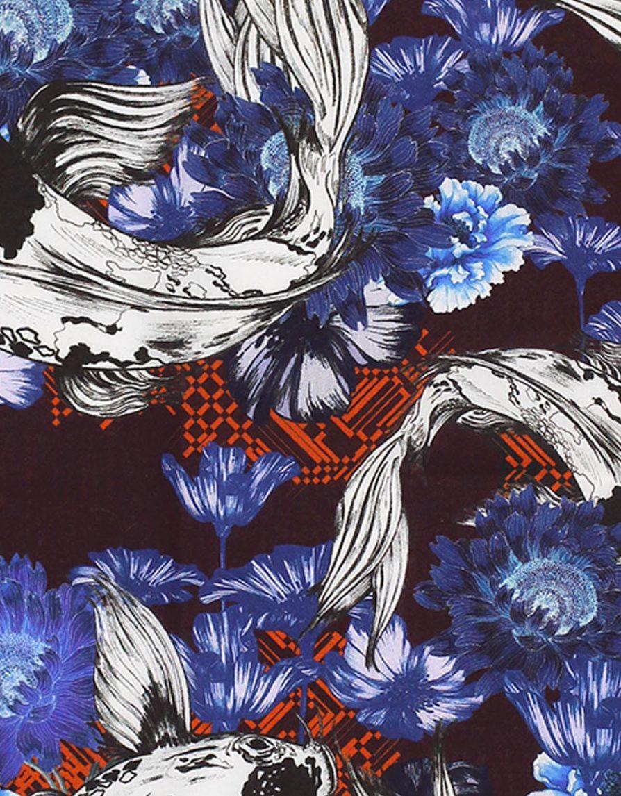Marylène Madou x Café Costume | Shiro Bekko | Premium Cotton Pocket Square